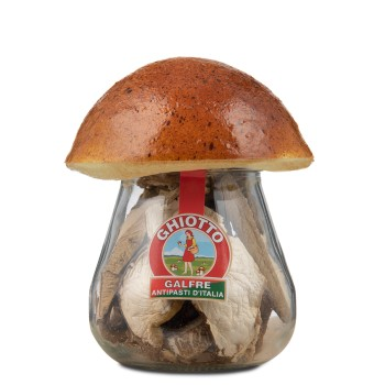 "Dried porcini mushrooms jar mushroom cork ""speciale"" g. 30"